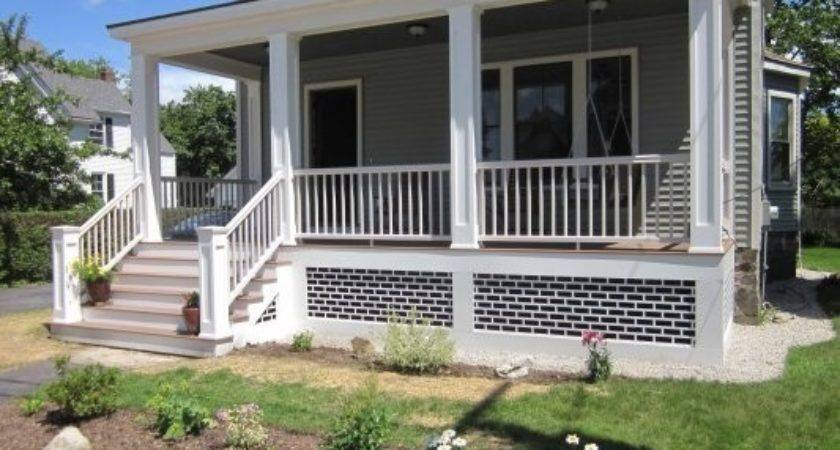 Deck Skirting White Brick Acurio Latticeworks