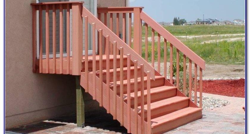 Deck Stairs Railing Ideas Decks Home Decorating