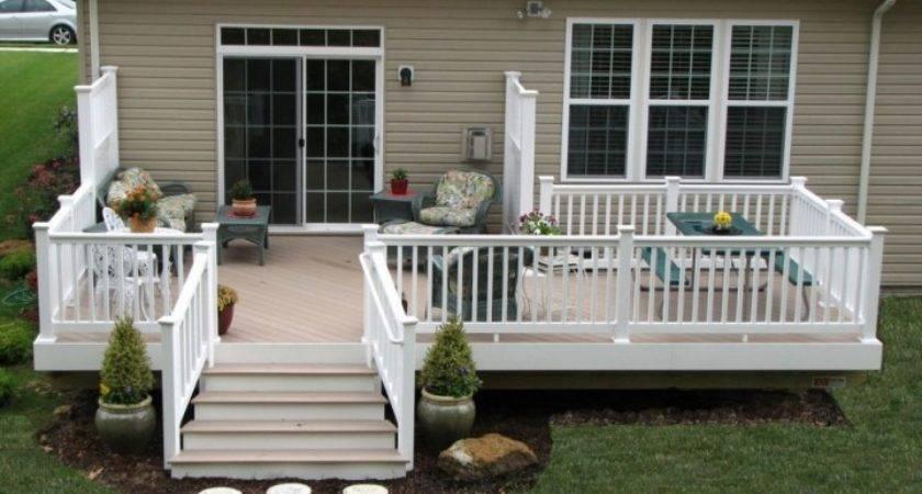Decks Mobile Homes Wood Granite Tones