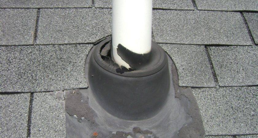 Defective Leaking Plumbing Vent Pipe Boot Found Spring