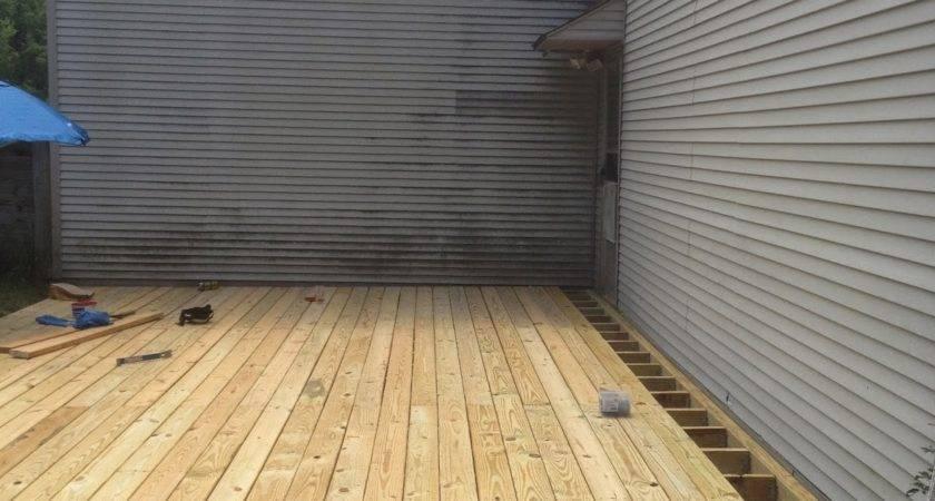 Dirt Deck Build Ground Level