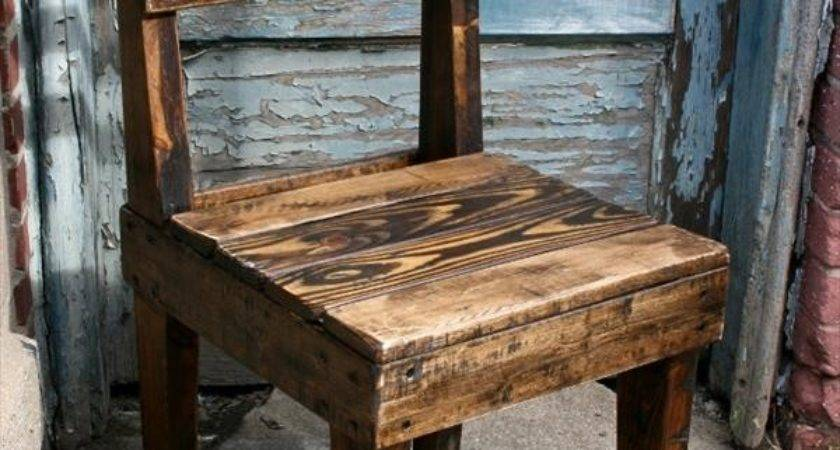 Diy Chairs Out Old Pallets Pallet Furniture Plans