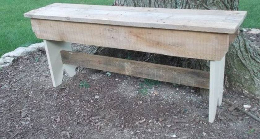 Diy Outdoor Pallet Bench Furniture Plans