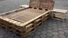 Diy Pallet Bed Frame Nightstands Furniture