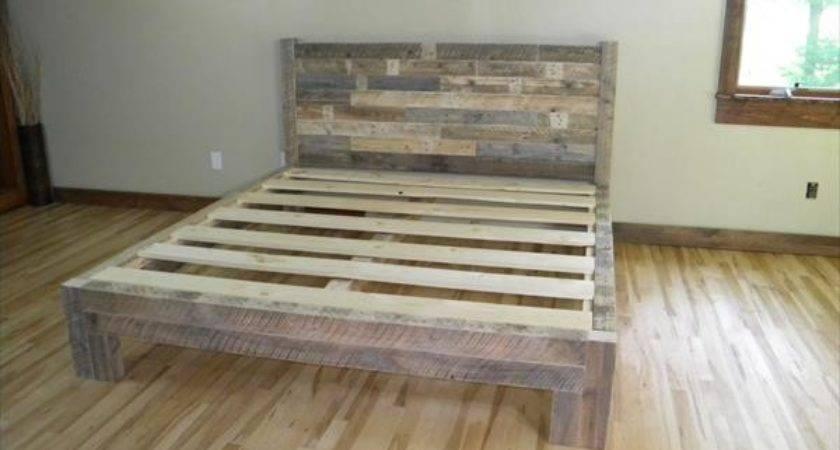 Diy Pallet Bed Furniture Plans