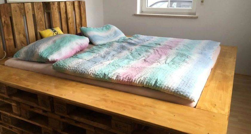 Diy Pallet Bed Instructions Into Glass