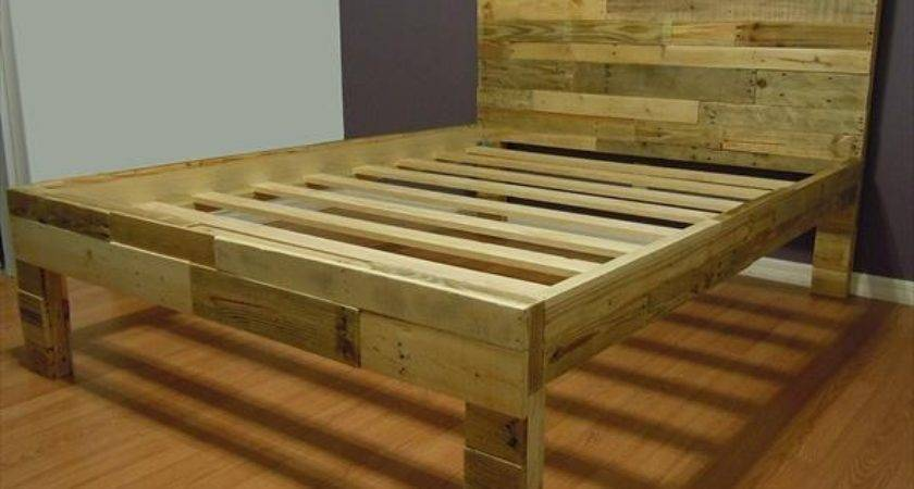 Diy Pallet Bed Instructions Out Old Pallets Wooden