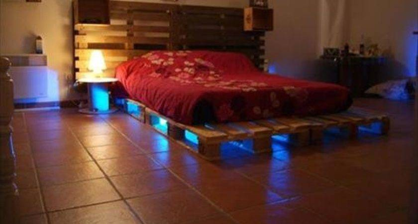 Diy Pallet Bed Lights Ideas Pallets Designs