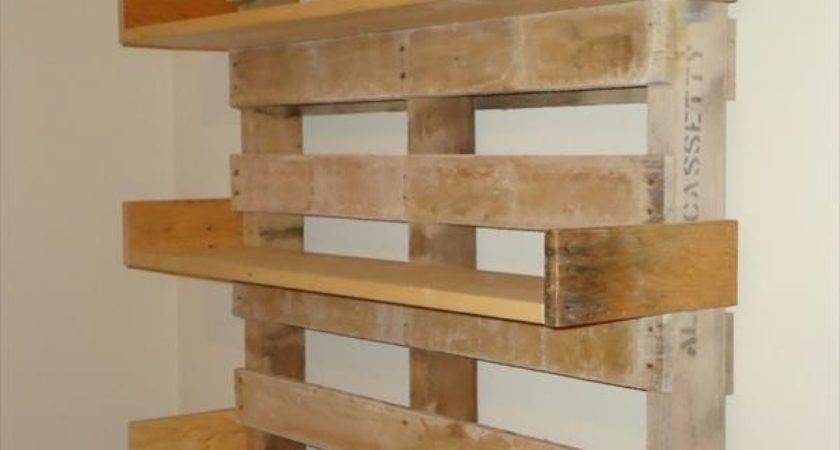 Diy Pallet Bookshelves Pallets Designs