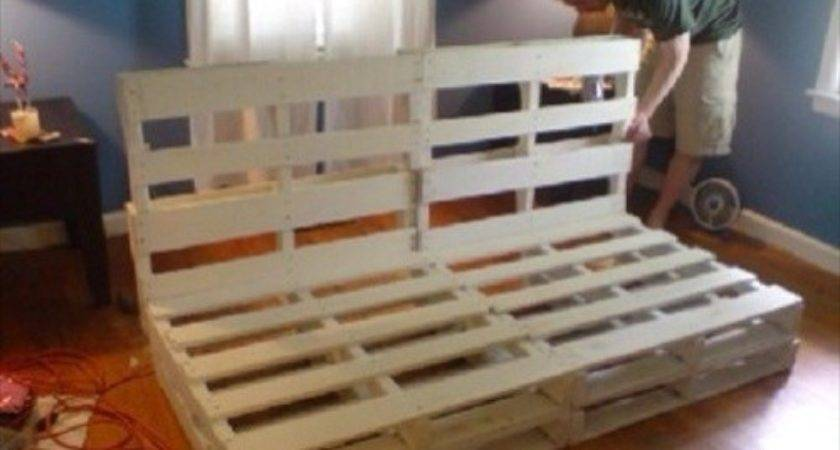 Diy Pallet Couch Attractive Addition Living Room