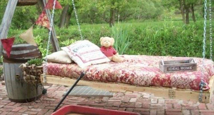 Diy Pallet Hanging Bed Pallets Designs