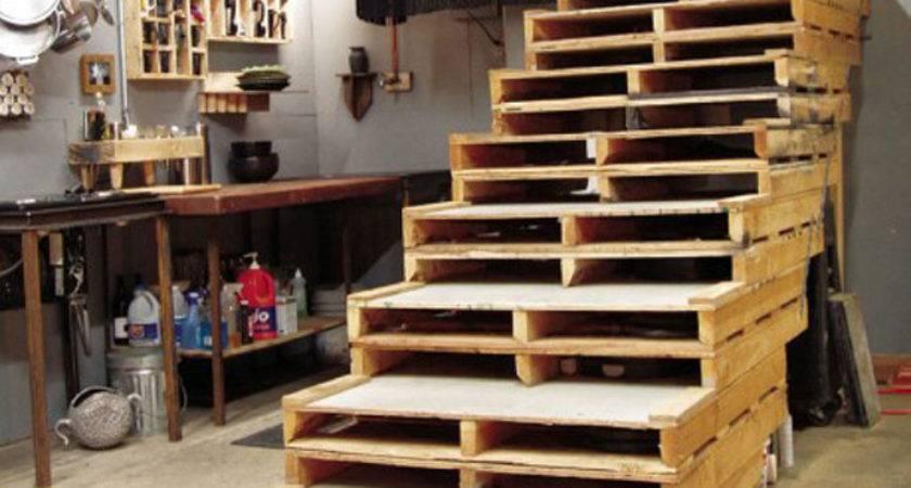 Diy Pallet Idea Stairs Ideas
