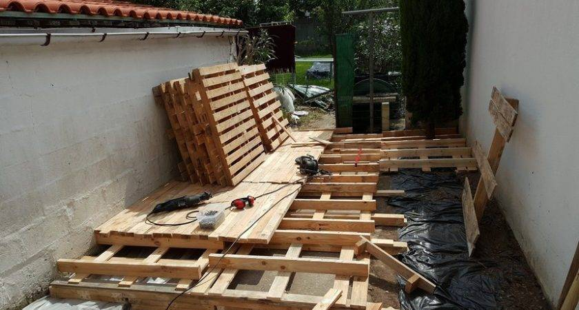 Diy Pallet Outdoor Flooring Decor Home Decoration
