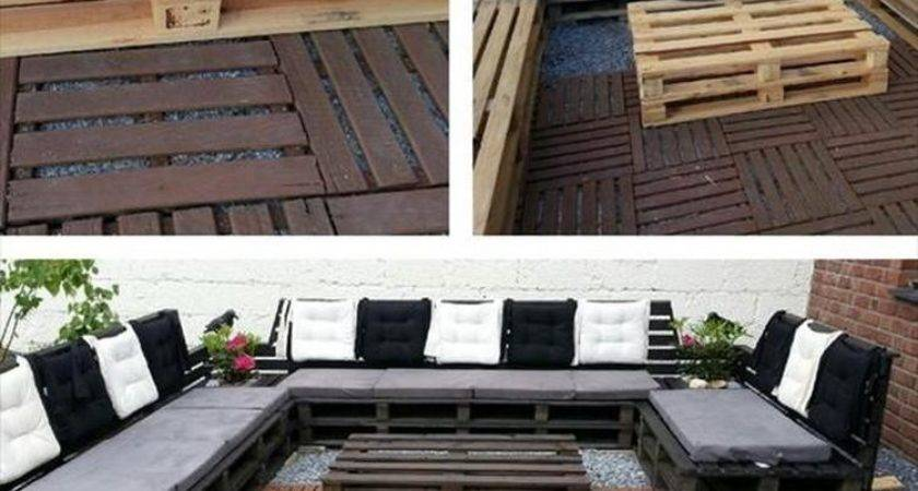 Diy Pallet Outdoor Sofa Plans Wood Projects