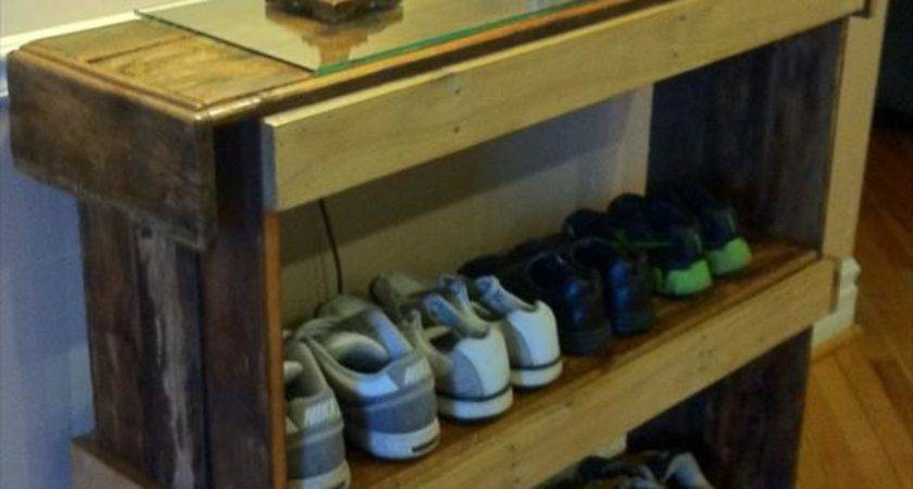 Diy Pallet Shoe Rack Furniture Plans