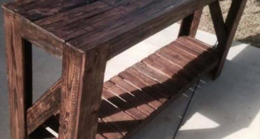 Diy Pallet Table Furniture Plans