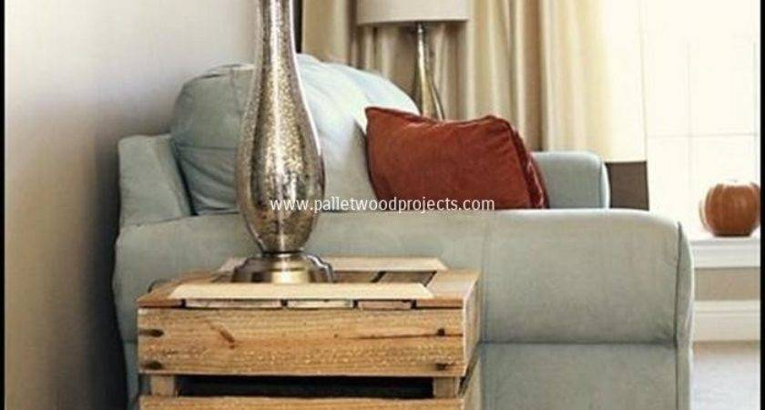 Diy Pallet Wood Side Table Plans Projects