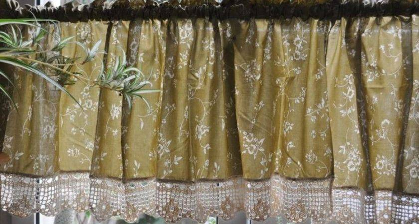Diy Primitive Kitchen Curtains