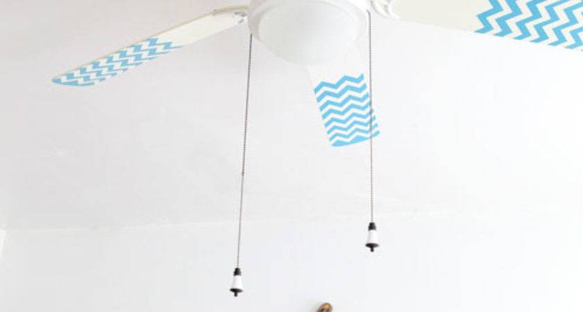 Diy Project Chevron Pattern Fan Blades Design Sponge