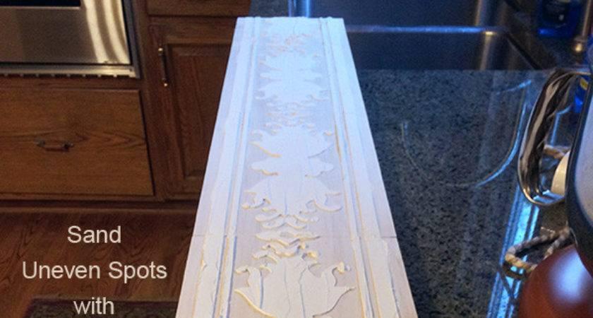 Diy Project Wood Sconce Embossed Stenciled Design