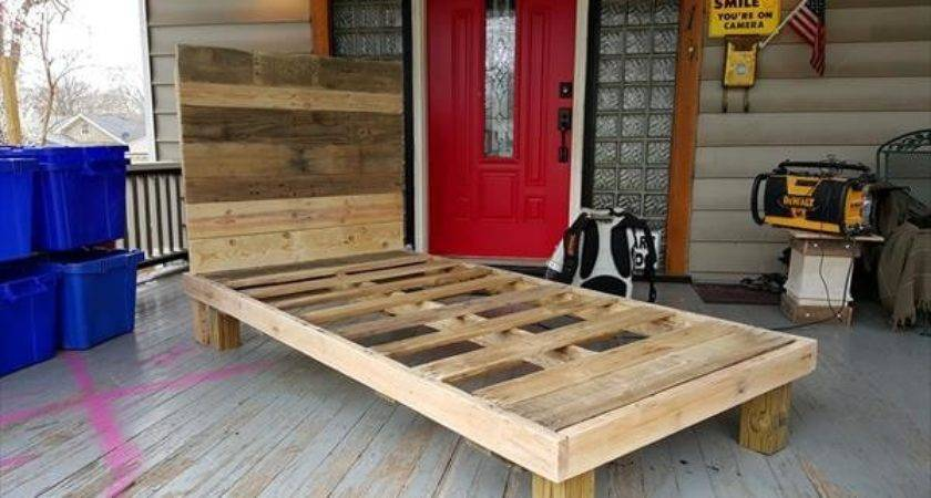 Diy Recycled Pallet Bed Frame Ideas Pallets