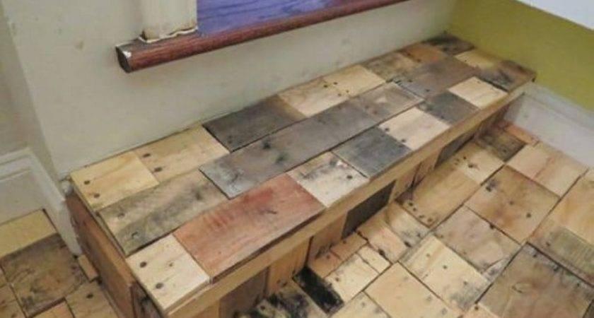 Diy Recycled Pallet Wood Flooring Ideas