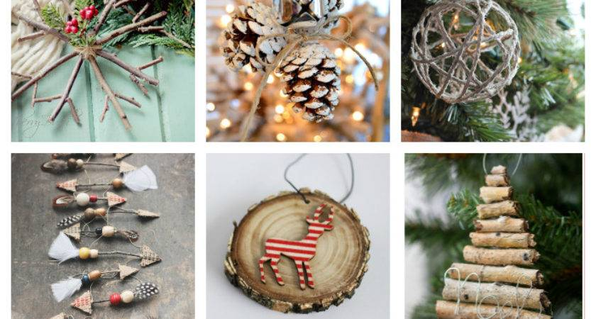 Diy Rustic Christmas Ornaments Girl Creative