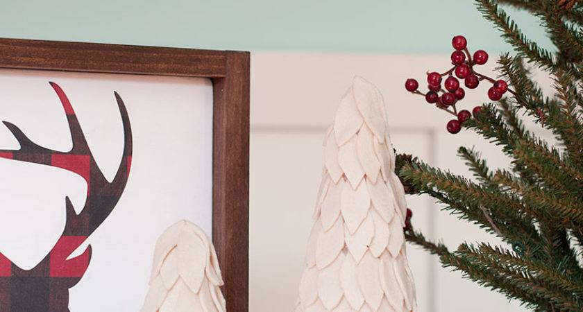 Diy Rustic Felt Christmas Trees Decorations