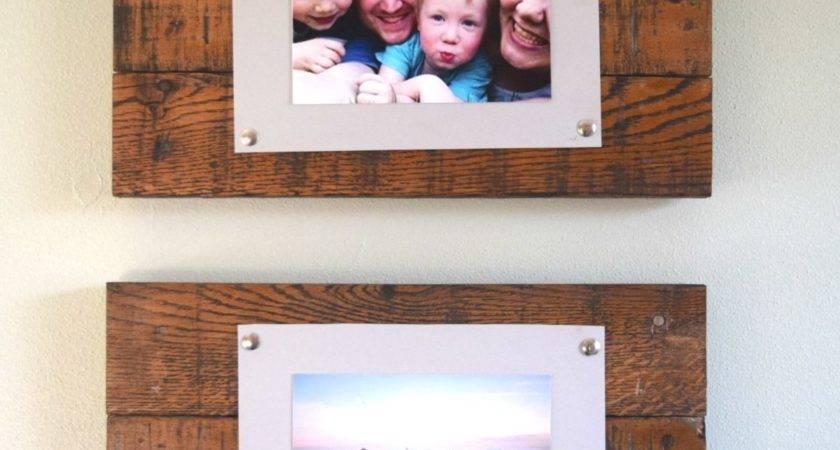 Diy Rustic Scrap Wood Frames Spotlight Favorite Photos