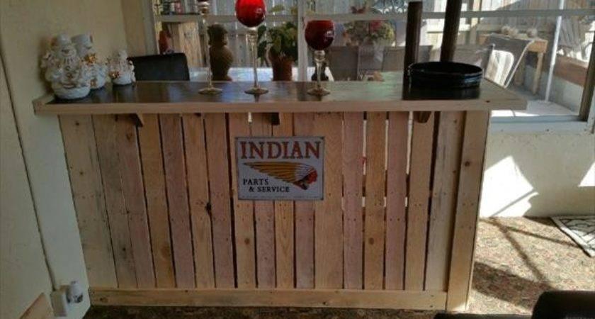 Diy Wooden Pallet Bar Table Furniture Plans