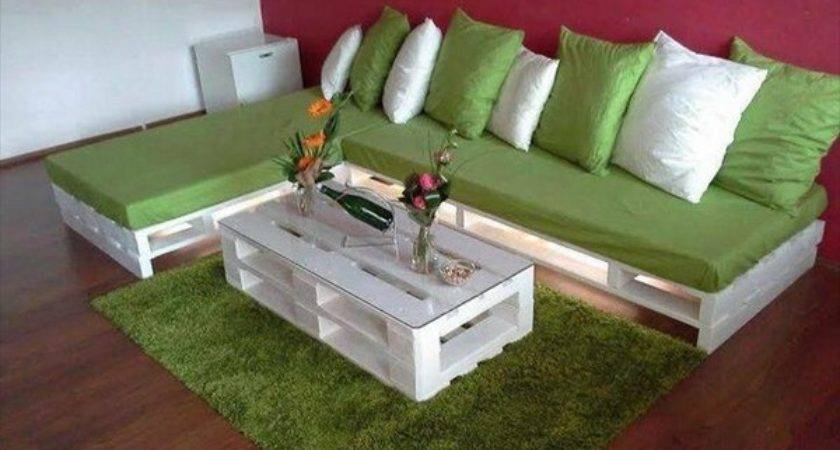 Diy Wooden Pallet Sofa Set Lights Designs Ideas