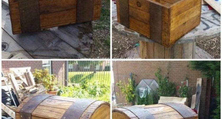 Diy Wooden Pallet Storage Box Plans Wood Projects