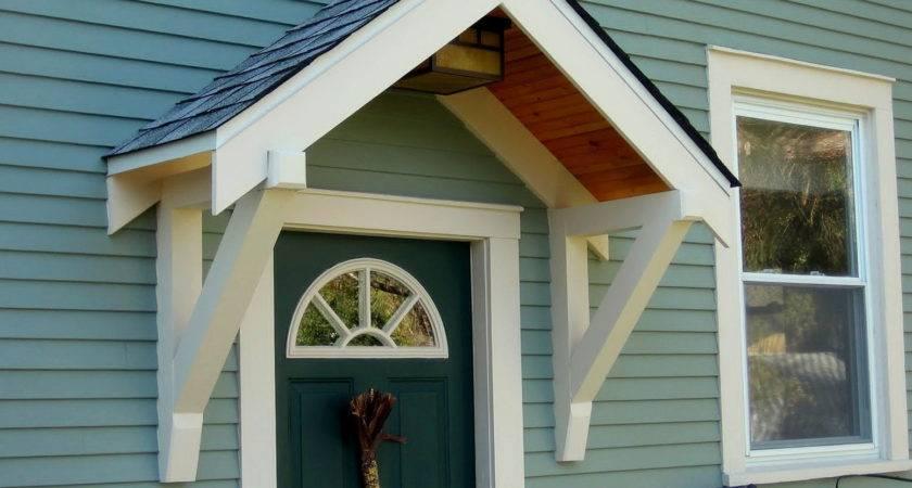 Door Overhang Log Awning Atlanta Home