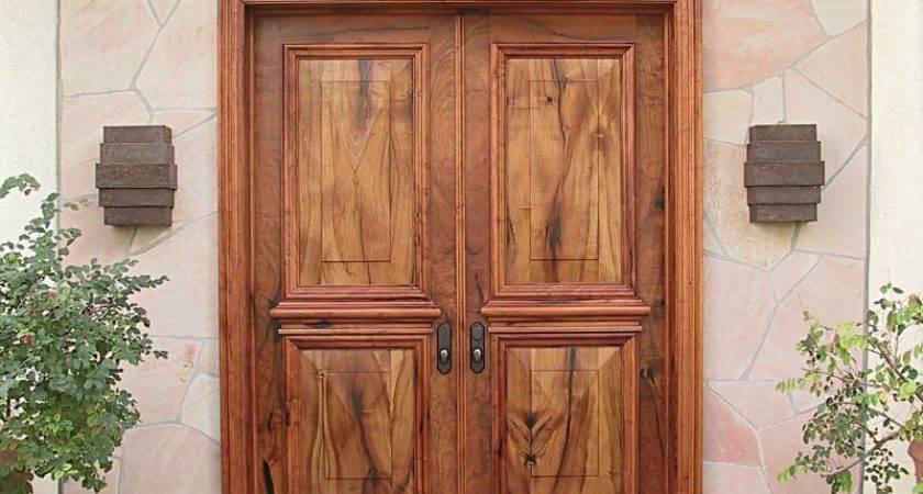 Doors Astonishing Double Wood Front