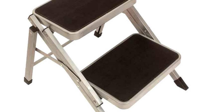 Double Folding Caravan Step Portable Compact Camper
