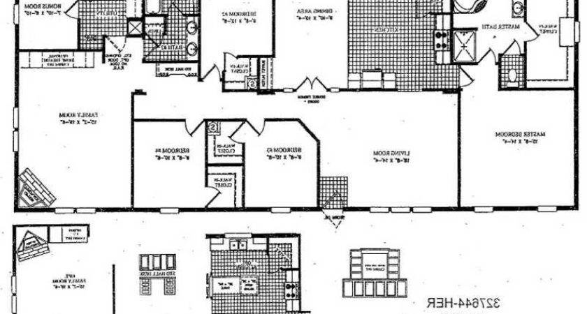 Double Wide Floor Plans Photos