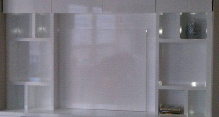 Downtown Chicago High Gloss White Modern Built Storage