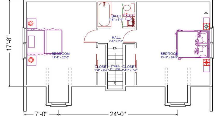 Duplex Plans Bedroom Bath Joy Studio Design