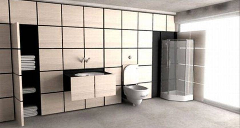 Dynamic Bathroom Designs Hidden Into Walls