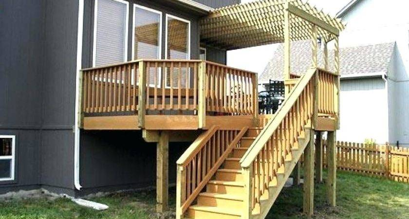 Elevated Decking Plans Deck Construction Small Ground