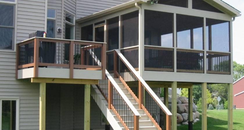 Enclosed Deck Designs Covered Floor