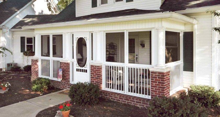 Exterior Awesome Front Porch Decoration Using