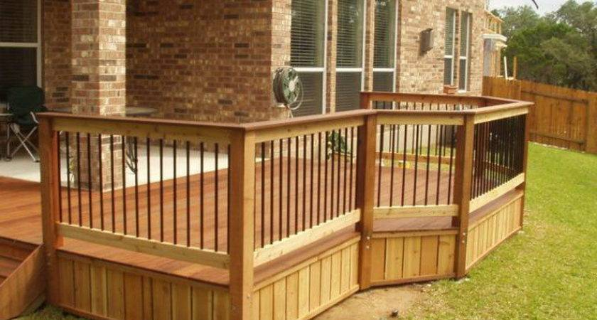 Exterior Cedar Deck Railing Composite Wood Glass