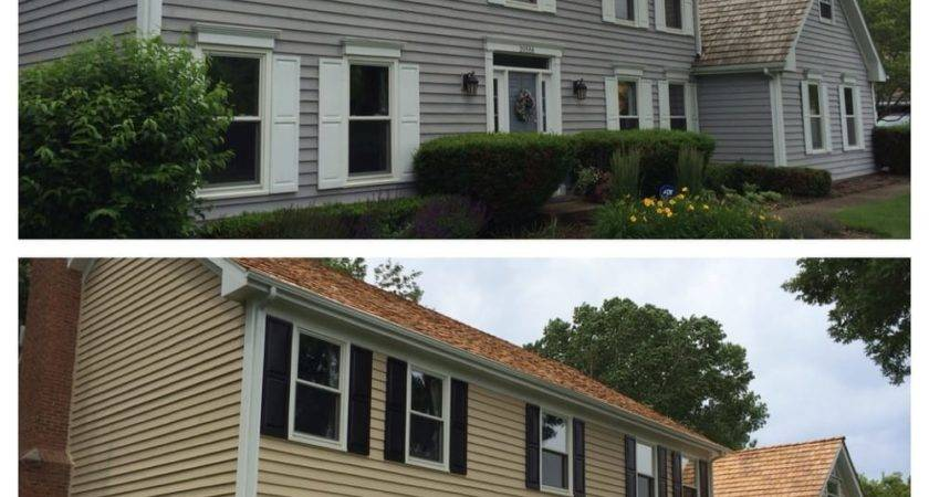 Exterior Cedar Siding Paint Before After Using