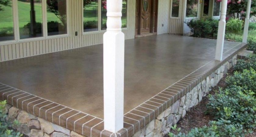 Exterior Concrete Front Porch Ideas Recommendation