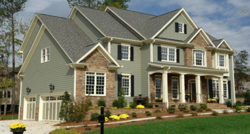Exterior Painted Homes Green House Vinyl Siding