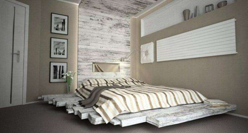 Fabulous Floating Styled Pallet Bed Ideas Which