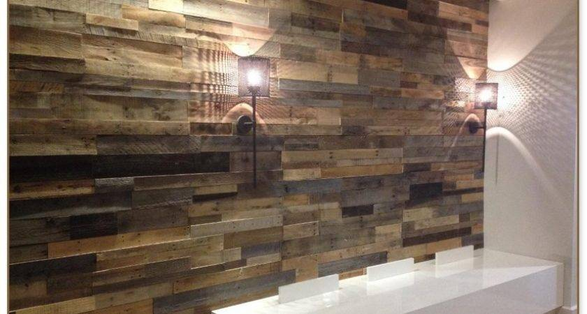 Faux Reclaimed Wood Paneling