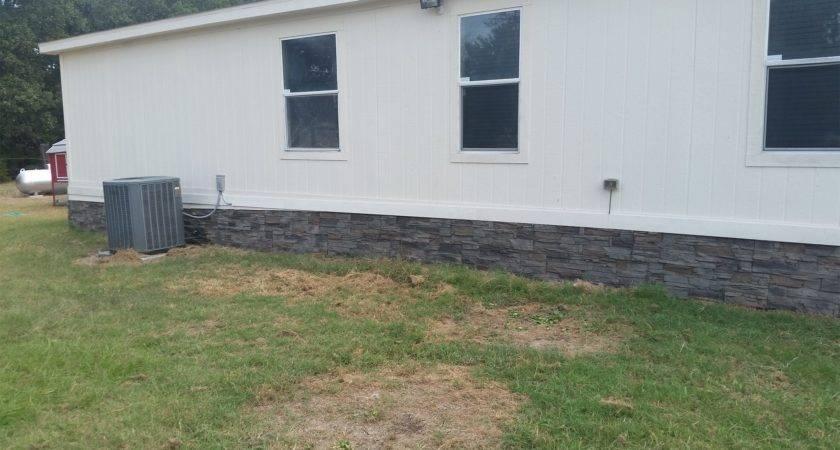 Faux Stone Skirting Mobile Homes Les Genstone