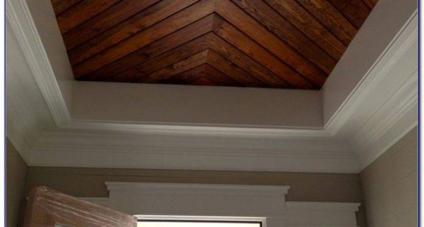 Faux Wood Paneling Ceiling Home Design